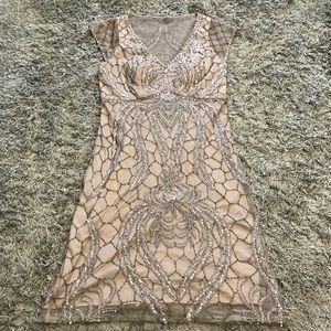 Beautiful Sue Wong Cap Sleeve Mini Dress, 6